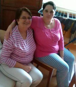 Lucka Černáková (right) and her mother. Source: family photo.