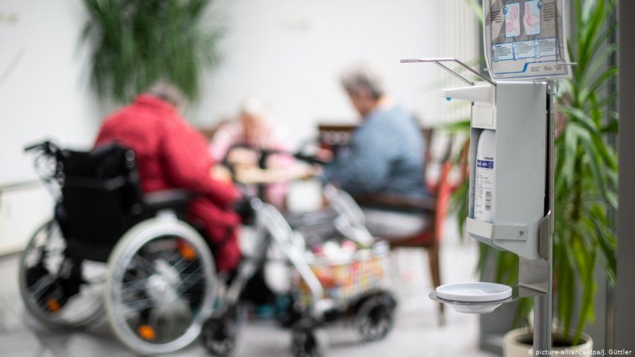 Germany's care homes are under isolation during the pandemic. Photo credit: Güttler, Deutschland Altenpflege Coronavirus