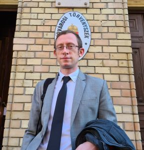 Steven Allen, Validity's Co-Executive Director before the Metropolitan Court, Budapest, Hungary